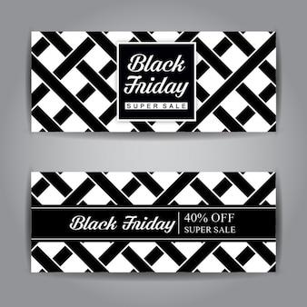 Czarny piątek sprzedaży baner