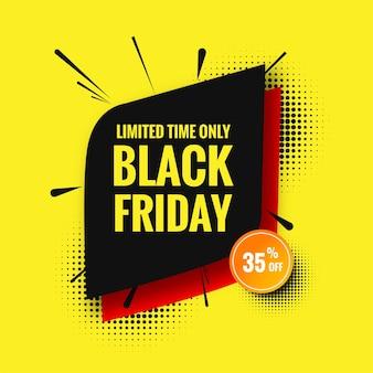 Czarny piątek sprzedaży szablonu projektu tła