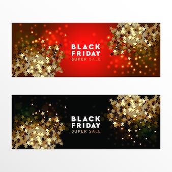 Czarny piątek super sprzedaż baner internetowy, ilustracji wektorowych