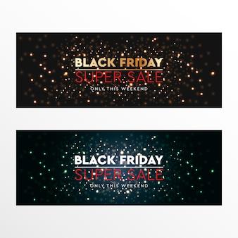 Czarny piątek super sprzedaż baner internetowy
