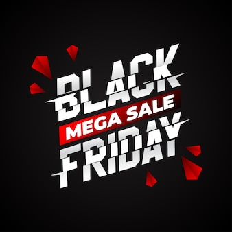 Czarny piątek super sprzedaż napis typografia
