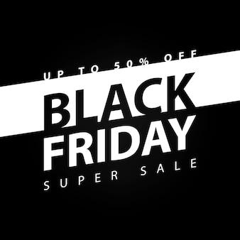 Czarny piątek super sprzedaż transparent wektor ilustracja