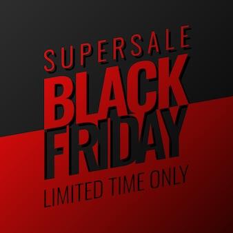 Czarny piątek supersale czerwone i czarne tło