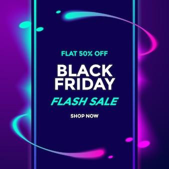Czarny piątek szablon sprzedaży flash