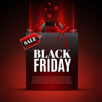 Czarny piątek szablon sprzedaży