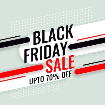 Czarny piątek sztandar sprzedaży ze szczegółami oferty