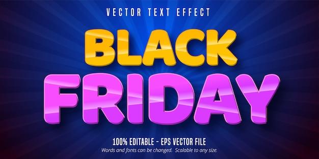 Czarny piątek tekst, edytowalny efekt tekstowy