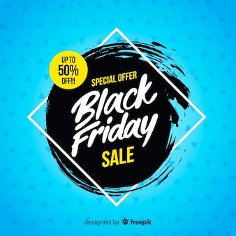 Czarny piątek tła sprzedaży z typografii