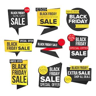 Czarny piątek transparent sprzedaży