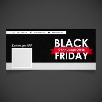 Czarny piątek wielki sprzedaż facebook okładka baner
