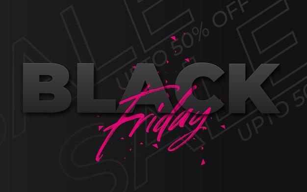 Czarny piątek wyprzedaż baner