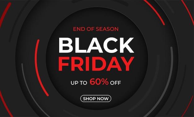 Czarny piątek wyprzedaż promocyjna plakat z ofertą promocyjną