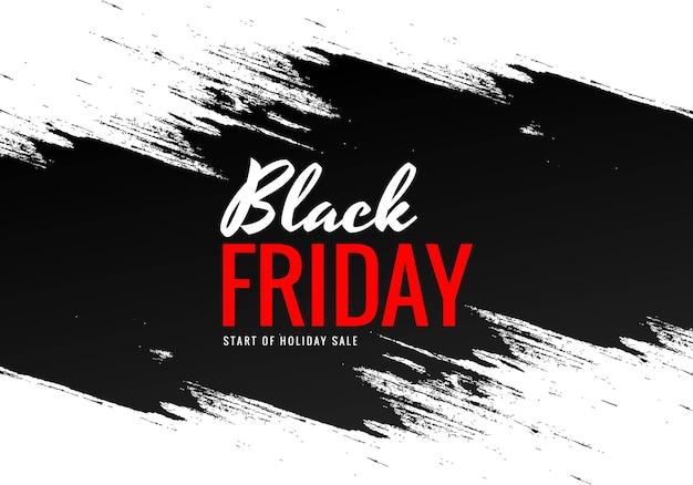 Czarny piątek z czarnym wzorem pędzla