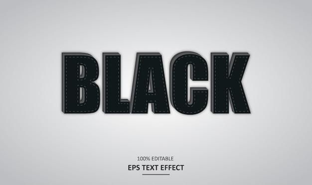 Czarny pogrubiony edytowalny efekt tekstowy