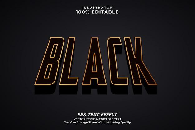 Czarny pogrubiony efekt tekstowy