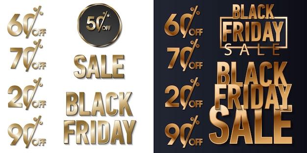 Czarny połysk złoto błyszczy tło. super piątkowe logo sprzedaży banerów, stron internetowych, nagłówków i ulotek.