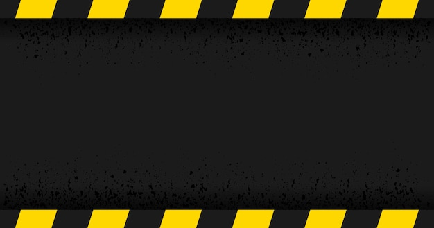 Czarny prostokąt okrojona na czarnym tle. pusty znak ostrzegawczy. ostrzeżenie w tle. szablon. ilustracja wektorowa
