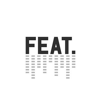 Czarny prosty wyczyn. znak z korektorem. koncepcja nagrania dźwiękowego, udział, duet, zaproszony, współpraca, wkład, pop. płaski trend w stylu nowoczesnej sieci web logotyp projekt ilustracji wektorowych na białym tle