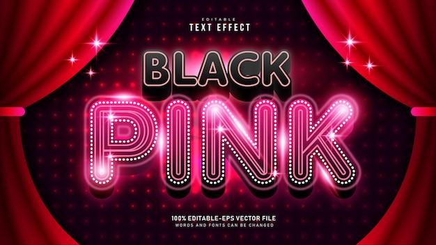 Czarny różowy efekt tekstowy