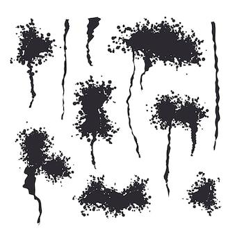 Czarny spray na białym tle