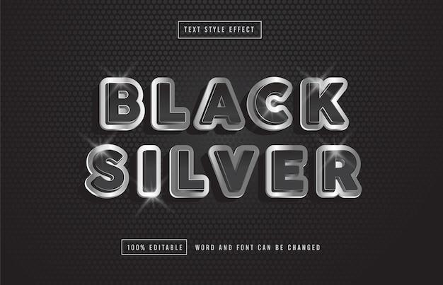 Czarny srebrny efekt tekstowy premium za darmo
