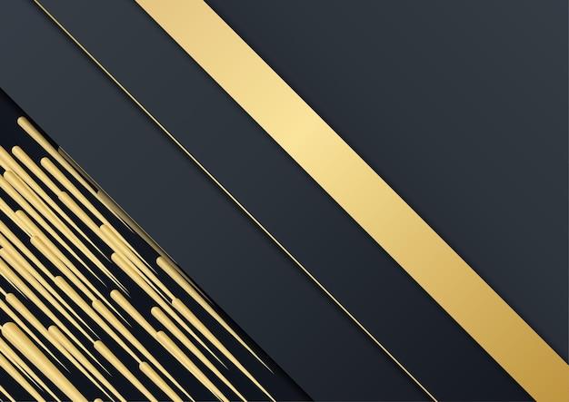 Czarny streszczenie tło prezentacji. czarne złoto tło nakładania wymiaru abstrakcyjne geometryczne nowoczesne. eleganckie tło w kolorze granatowo-złotym z warstwą zakładki. garnitur dla biznesu i korporacji