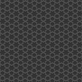 Czarny teksturowany wzór islamski