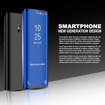 Czarny telefon z ekranem dotykowym