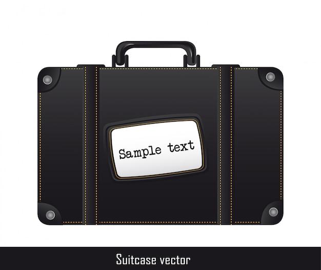 Czarny walizka ove biały