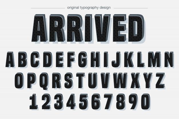 Czarny wzór pogrubiony typografia