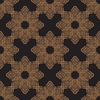 Czarny wzór z rocznika ozdoby. dobry do tła, nadruków, odzieży i tekstyliów. ilustracja wektorowa.