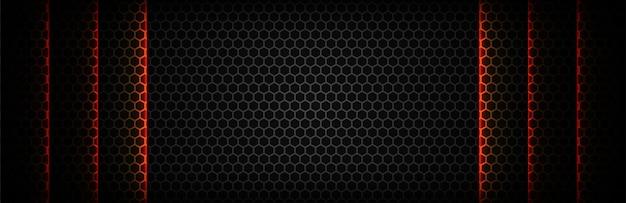 Czarny z sześciokątną siatką tekstura tło
