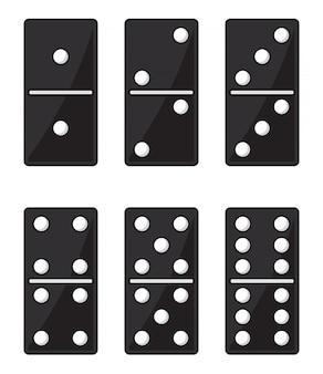Czarny zestaw domino