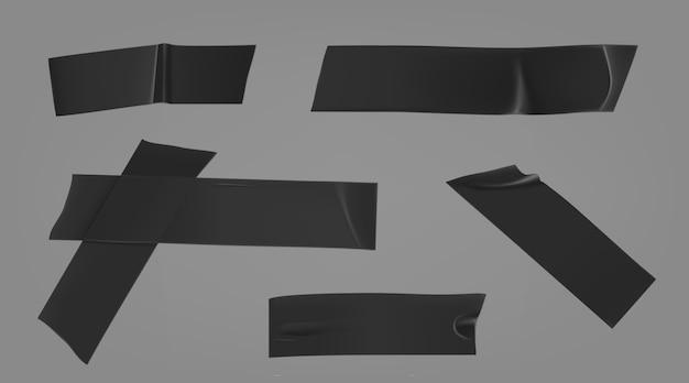 Czarny zestaw kanałów klejowych