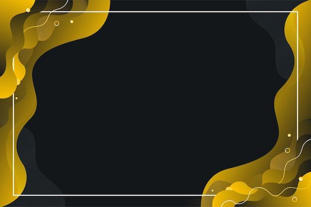 Czarny żółty gradient fala abstrakcyjne tło