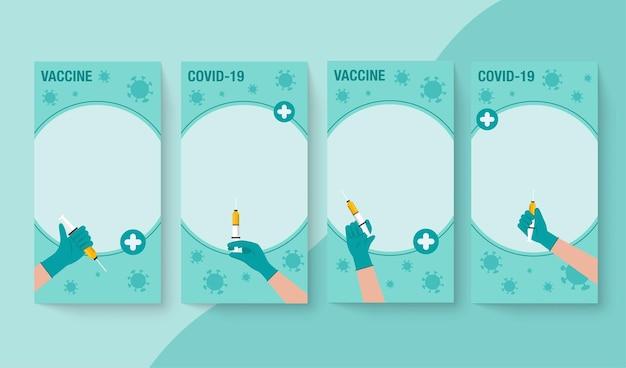 Czas do koncepcji szczepień koronawirusowych. baner promocji zdrowia publicznego dotyczący szczepień przeciwko koronawirusowi w internecie lub w dokumentach
