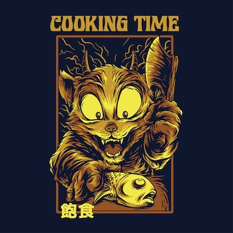 Czas gotowania zremasterowany ilustracja