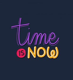Czas jest teraz literą