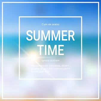 Czas letni niewyraźne morze bokeh plaża
