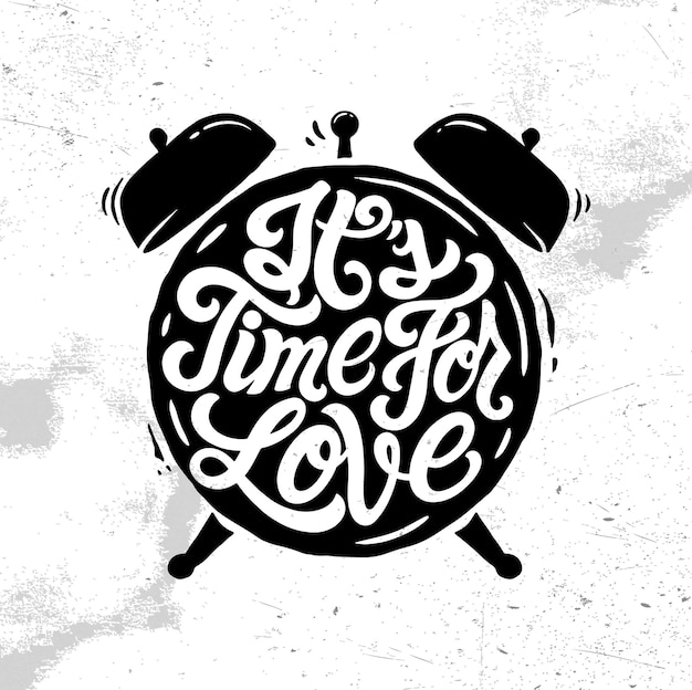 Czas na logo, odznakę, emblemat z napisem miłosnym