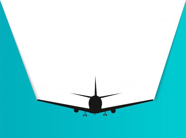 Czas na podróż. papierowy samolot w stylu podróży.