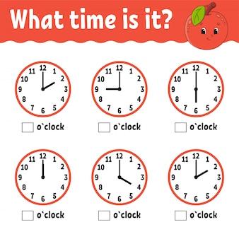 Czas nauki na zegarze.
