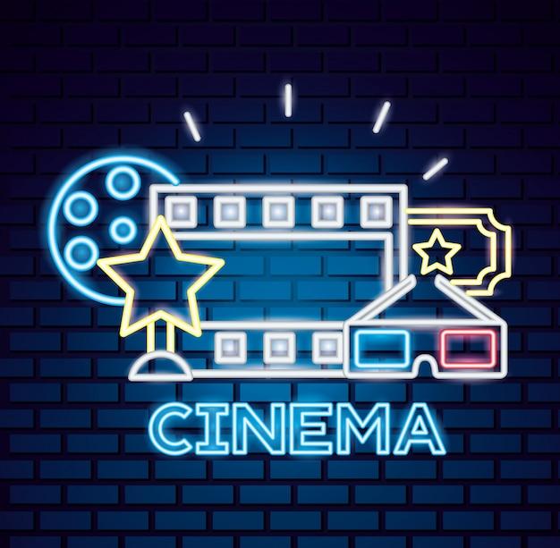 Czas neon znak filmu