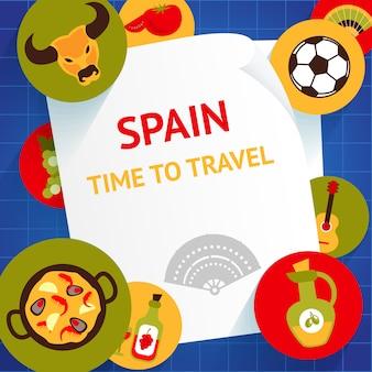 Czas podróży do hiszpanii turystycznych atrakcji turystycznych