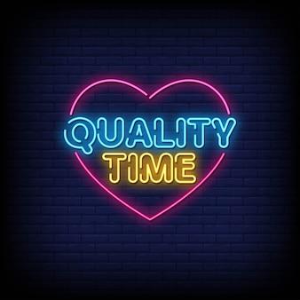 Czas tekst neon znaki jakości