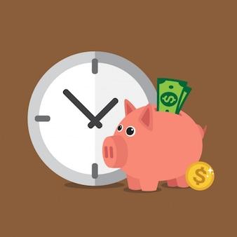 Czas to pieniądz tle