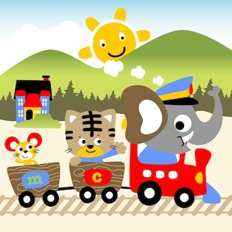 Czas wakacyjny w pociągu