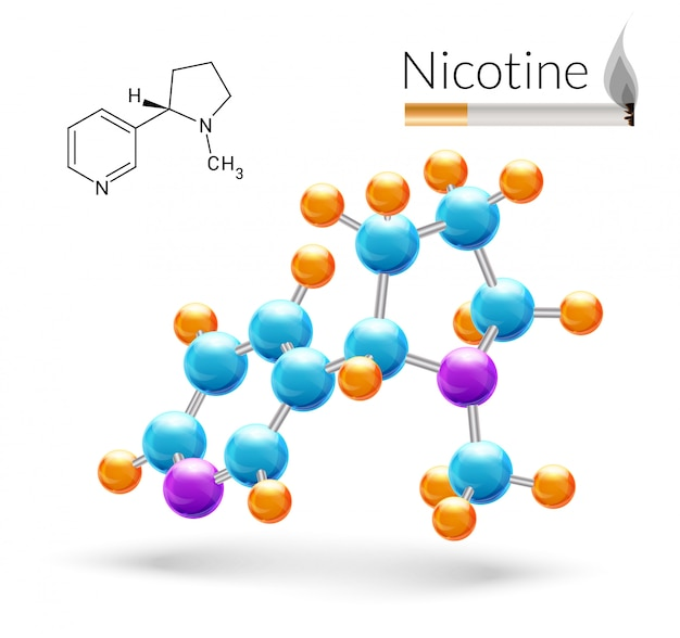Cząsteczka nikotyny 3d