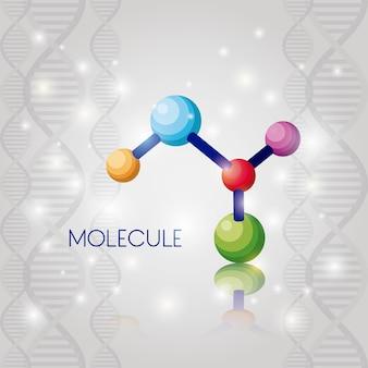 Cząsteczka struktura chemiczny ikona wektor ilustracja projektu