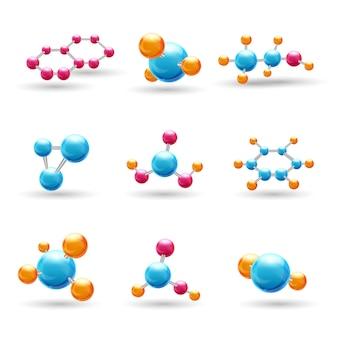Cząsteczki chemiczne 3d